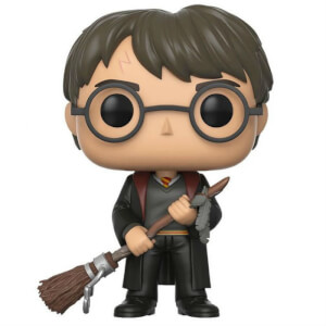 Harry Potter Harry with Firebolt and Feather EXC Pop! Vinyl Figure