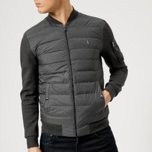 Polo Ralph Lauren Men's Mixed Fabric Bomber Jacket - Windsor Heather