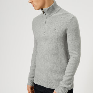 Polo Ralph Lauren Men's Half Zip Knit Jumper - Andover Grey Heather