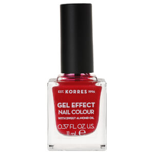 KORRES Gel-Effect Sweet Almond Nail Colour - 51 Rosy Red 11ml