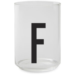 Design Letters Drinking Glass - F