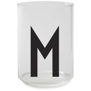 Design Letters Drinking Glass - M