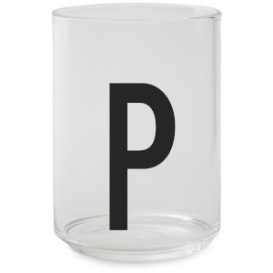 Design Letters Drinking Glass - P