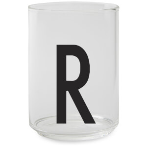Design Letters Drinking Glass - R