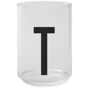 Design Letters Drinking Glass - T