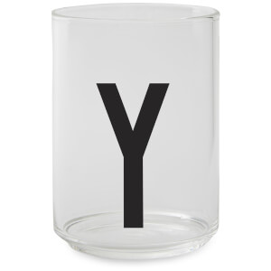 Design Letters Drinking Glass - Y