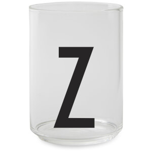 Design Letters Drinking Glass - Z