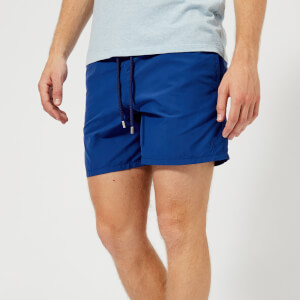 Vilebrequin Men's Moorea Starfish Art Aquareactif Swim Shorts - Bleu Neptune