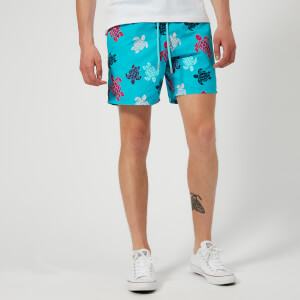 Vilebrequin Men's Moorea Tortues Multicolores Swim Shorts - Curacao