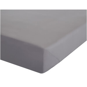 Catherine Lansfield Easy Iron Percale Fitted Sheet - Grey
