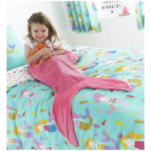 Catherine Lansfield Mermaid Tail Blanket - Pink