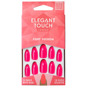 U?as de color de Elegant Touch - Fiery Fuchsia