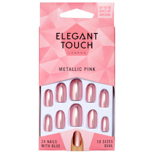 U?as de color de Elegant Touch - Metallic Pink