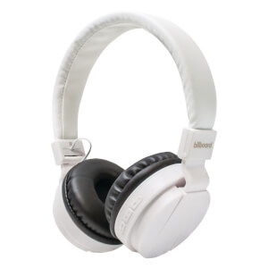 Billboard On Ear Bluetooth Wireless Headphones - White