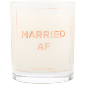 Damselfly Rose Gold Married AF Candle 300g