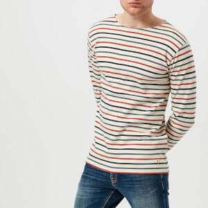 Armor Lux Men's Marinière Héritage Long Sleeve T-Shirt - Nature/Aviso/Manganese