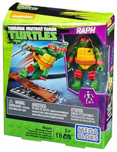 Teenage Mutant Ninja Turtles Mega Bloks Training Classic Figure 10pk