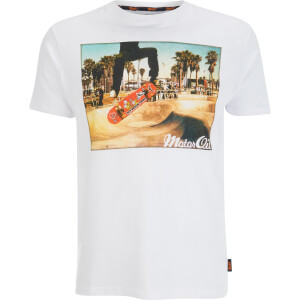 Brave Soul Men's Halfpipe T-Shirt - White
