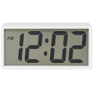 Karlsson Coy Rubberized Alarm Clock - White