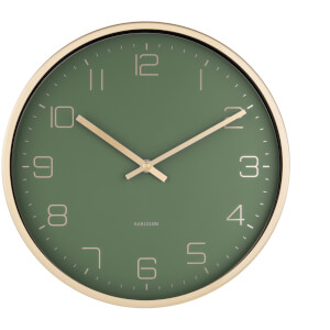 Karlsson Gold Elegance Wall Clock - Green