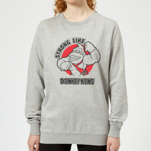 Nintendo Donkey Kong Strong Like Donkey Kong Women's Sweatshirt - Grey