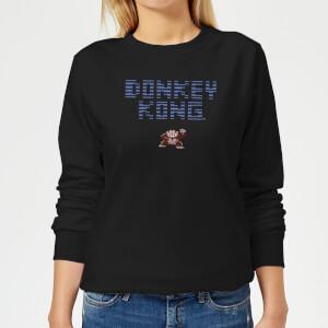Felpa Nintendo Donkey Kong Retro Logo - Nero - Donna