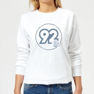 Nintendo Mario Kart Vintage Mario Racer 92 Women's Sweatshirt - White