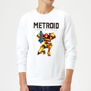 Nintendo Metroid Samus Returns Sweatshirt - White