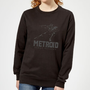Sweat Femme Super Metroid (Nintendo) Samus Returns - Noir