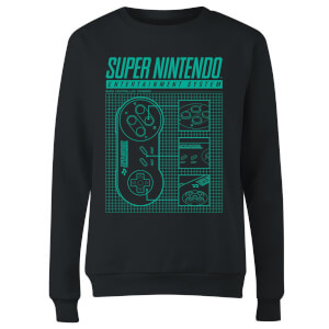 Sweat Femme Super Nintendo Entertainment System - Nintendo - Noir