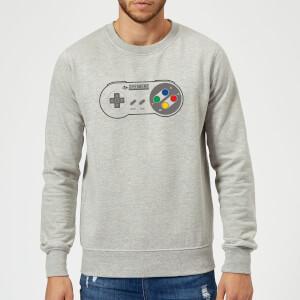 SNES Controller Pad Pullover - Grau