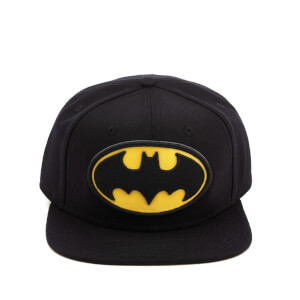 DC Comics Batman Men's Big Logo Snapback Cap - Black