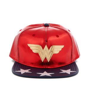 DC Comics Wonder Woman Men's Meal Icon Snapback Cap - Red