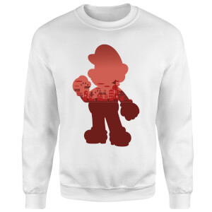 Nintendo Super Mario Mario Silhouet Trui - Wit