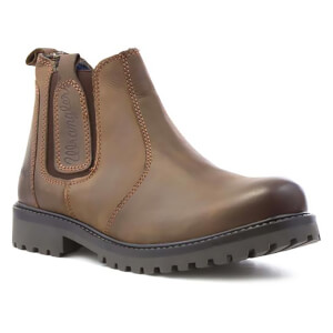 Wrangler Men's Yuma Leather Chelsea Boots - Chesnut