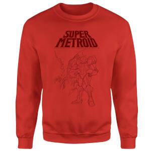 Sweat Homme Super Metroid (Nintendo) Ridley et Samus - Rouge