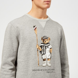 Polo Ralph Lauren Men's Vintage Fleece Bear Sweatshirt - Bronx Heather: Image 4