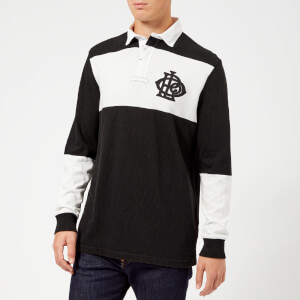 Polo Ralph Lauren Men's Long Sleeve Rugby Top - Polo Black/Deckwash