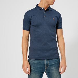 Polo Ralph Lauren Men's Slim Fit Pima Polo Shirt - Spring Navy Heather