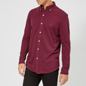 Polo Ralph Lauren Men's Featherweight Mesh Long Sleeve Shirt - Classic Wine