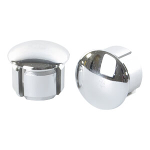 Velox Vintage Chromed End Plugs - Chromed