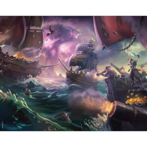 Affiche Sea Of Thieves - Bataille des Trois Tempêtes - Édition Limitée (35.5 cm x 28 cm)