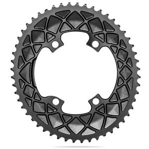 AbsoluteBLACK 110BCD 4 Bolt Spider Mount Oval Ring R9100 R8000 (Premium) - Black