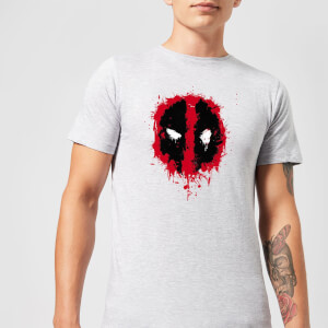 Marvel Deadpool Splat Face T-Shirt - Grijs