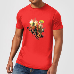 Camiseta Marvel Deadpool Outta The Way Nerd - Hombre - Rojo