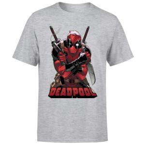 Marvel Deadpool Ready For Action T-Shirt - Grey