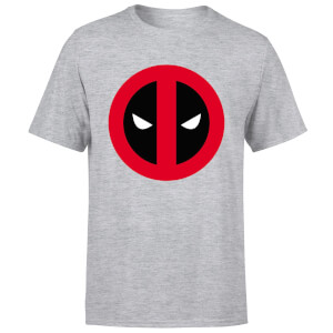 T-Shirt Homme Deadpool (Marvel) Logo Propre - Gris