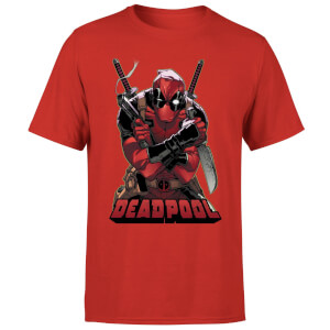 T-Shirt Homme Deadpool (Marvel) Ready For Action - Rouge