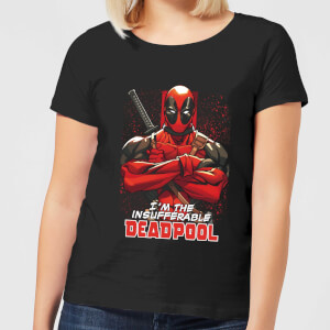 Marvel Deadpool Crossed Arms Women's T-Shirt - Black