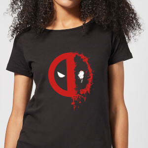 Marvel Deadpool Split Splat Logo Frauen T-Shirt - Schwarz